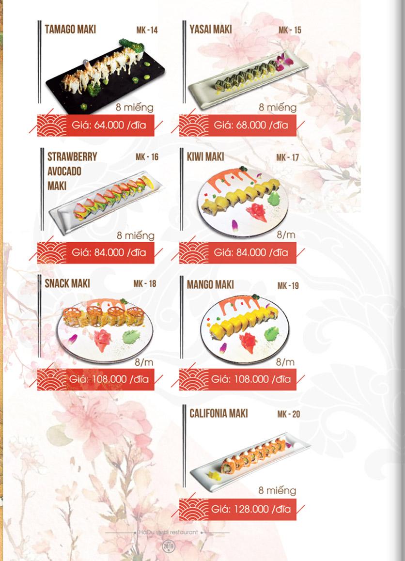 Menu Hadu.Sushi - Xã Đàn     5