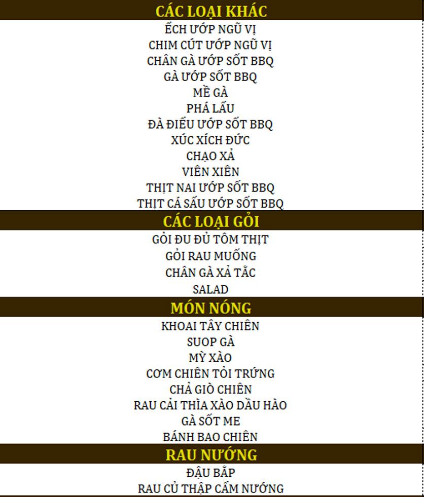 Menu Haha BBQ - Nguyễn Văn Lượng 2