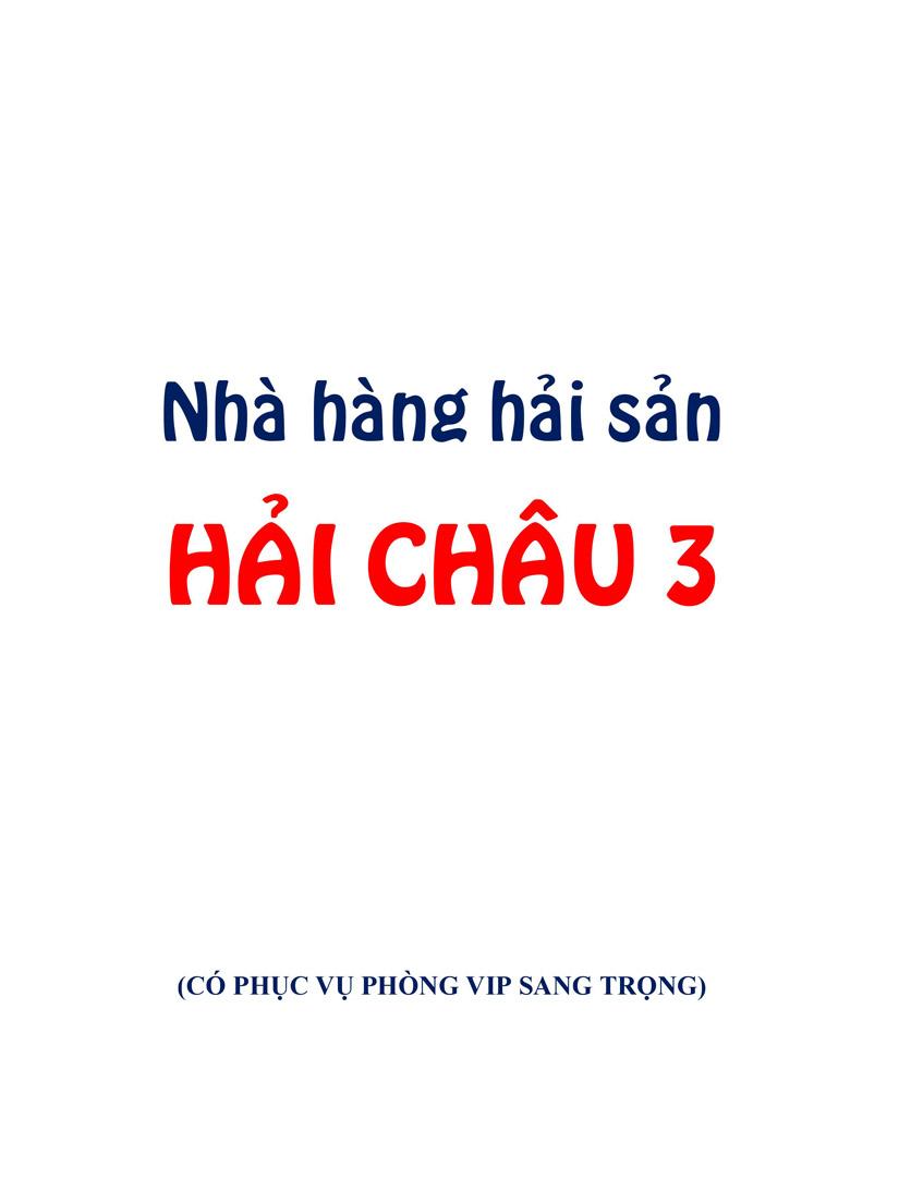 Menu Hải sản Hải Châu 3 - Nguyễn Thị Nhỏ 8