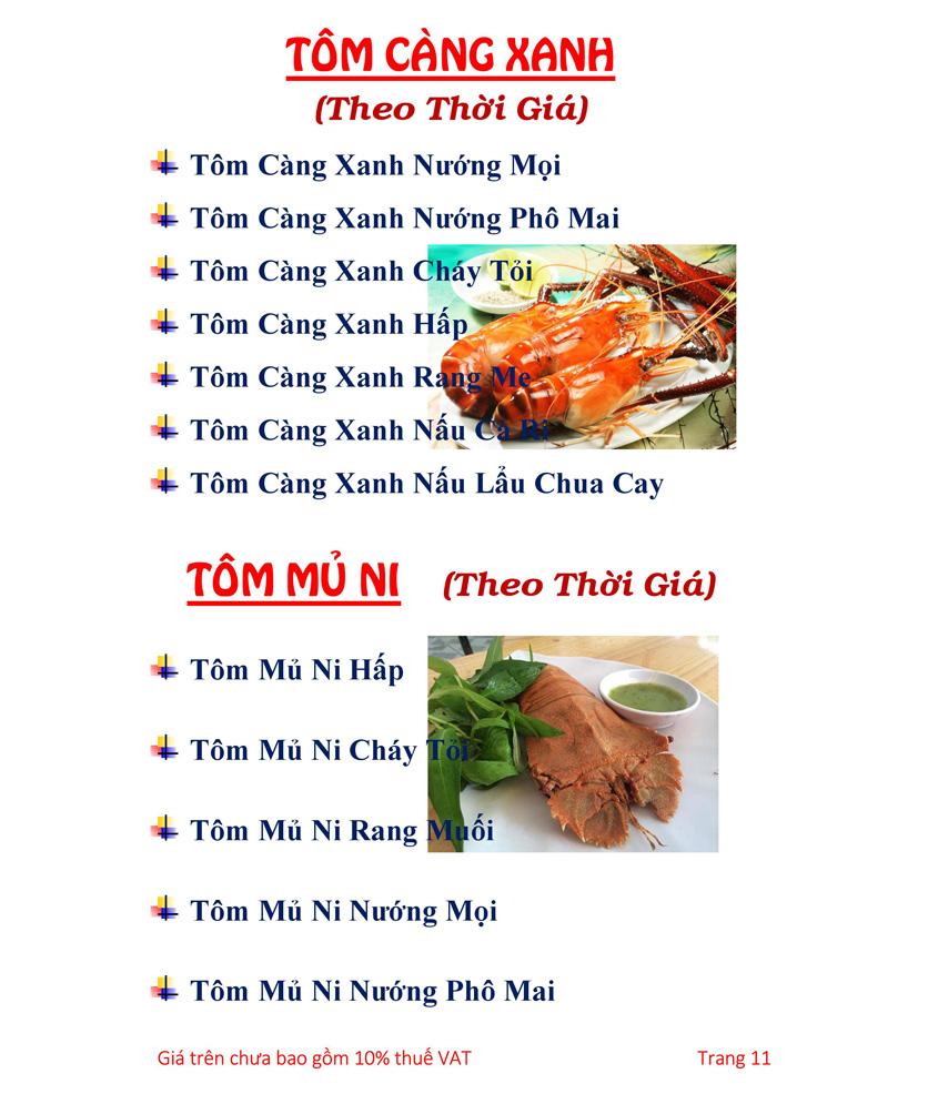 Menu Hải sản Hải Châu 3 - Nguyễn Thị Nhỏ 16