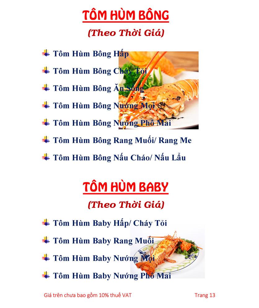 Menu Hải sản Hải Châu 3 - Nguyễn Thị Nhỏ 18