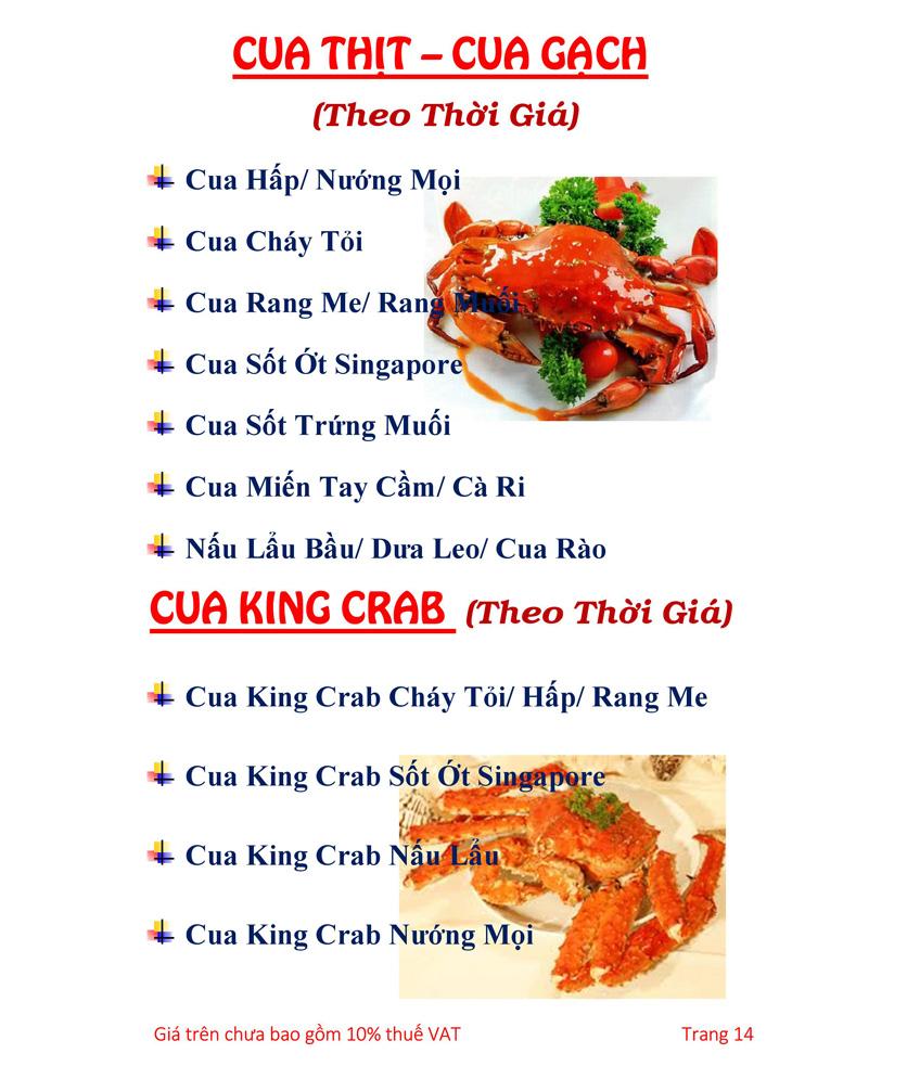 Menu Hải sản Hải Châu 3 - Nguyễn Thị Nhỏ 19