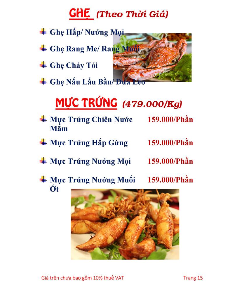 Menu Hải sản Hải Châu 3 - Nguyễn Thị Nhỏ 20