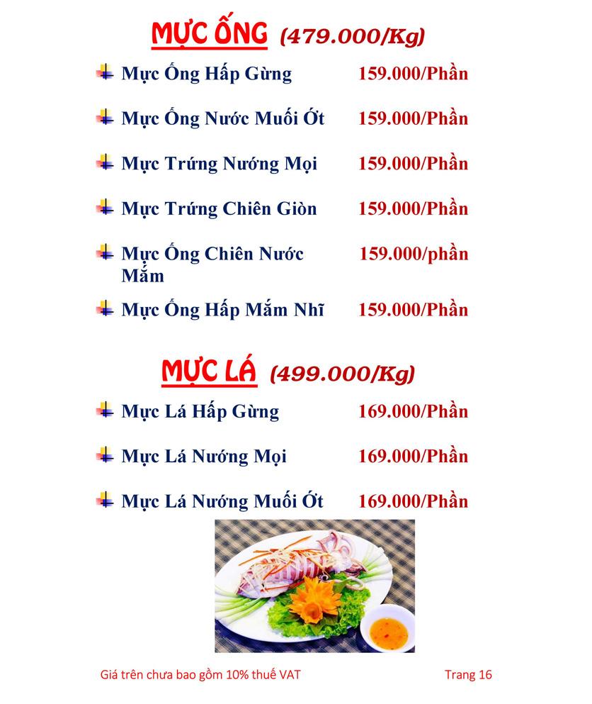 Menu Hải sản Hải Châu 3 - Nguyễn Thị Nhỏ 21