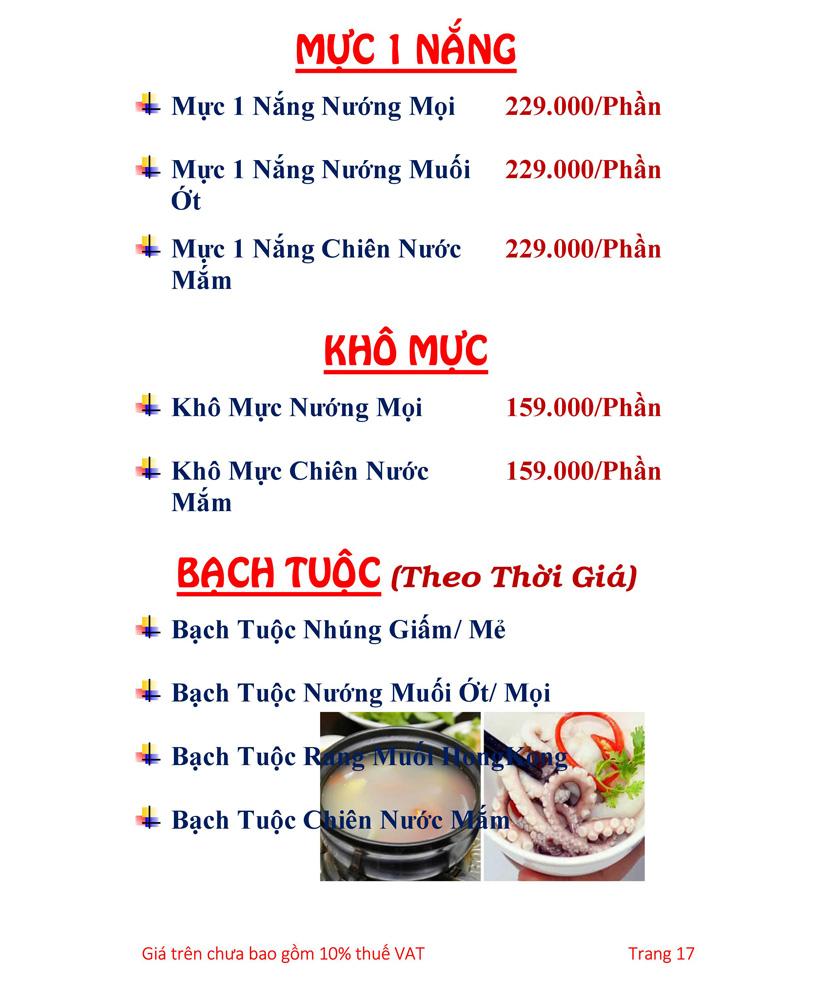 Menu Hải sản Hải Châu 3 - Nguyễn Thị Nhỏ 22