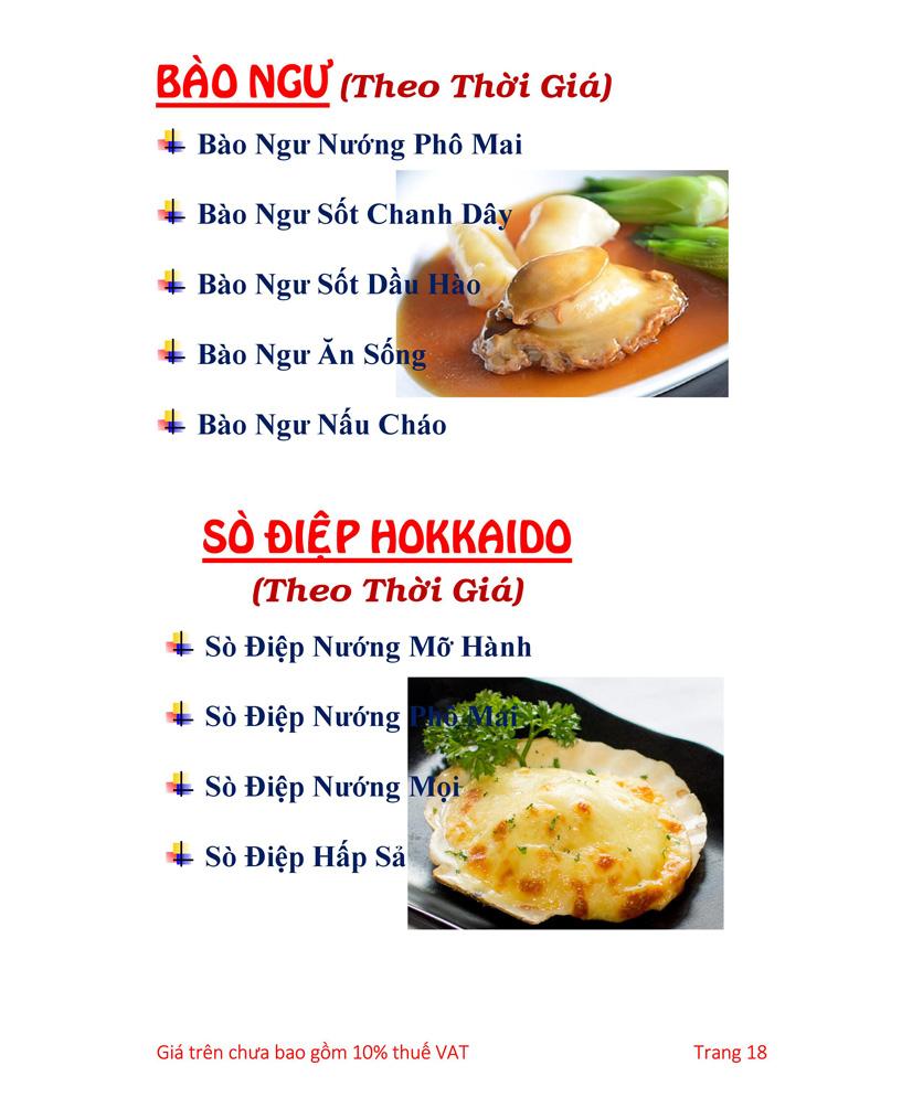 Menu Hải sản Hải Châu 3 - Nguyễn Thị Nhỏ 23