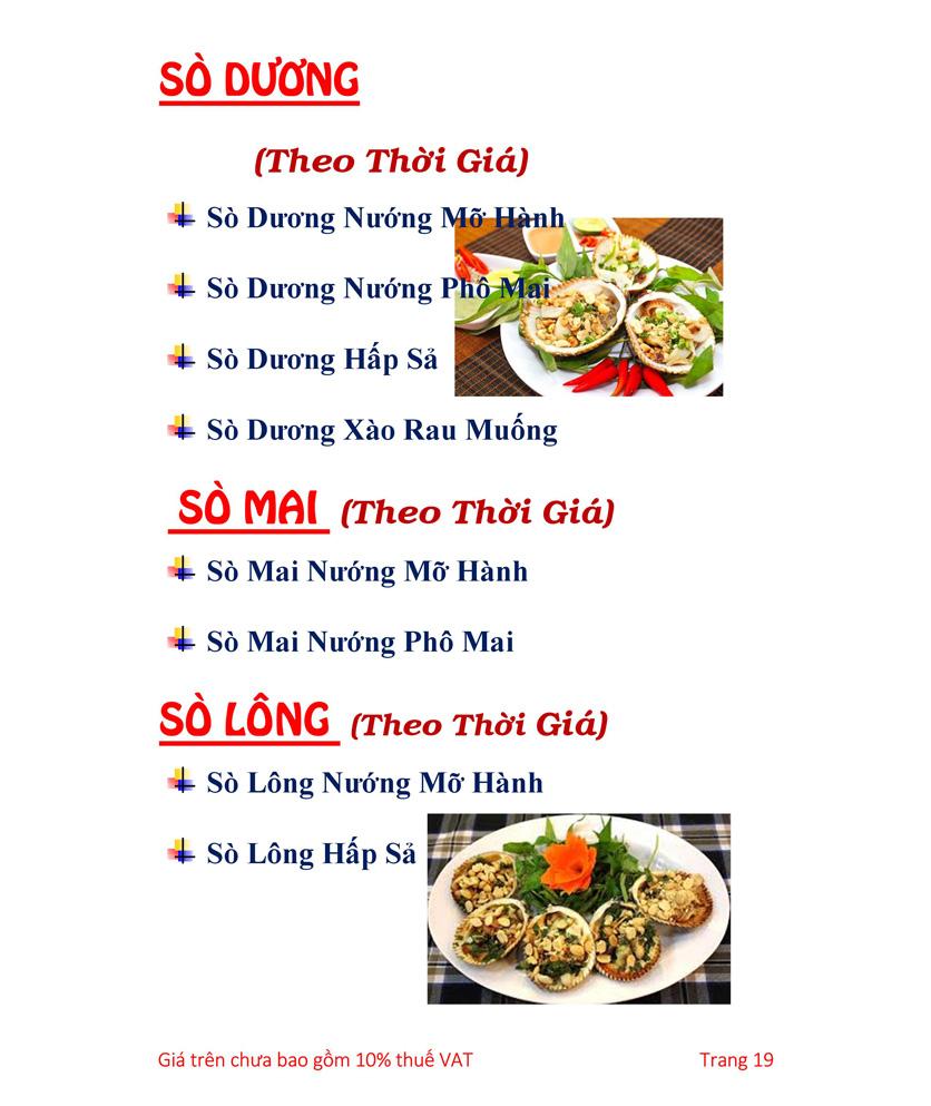 Menu Hải sản Hải Châu 3 - Nguyễn Thị Nhỏ 24