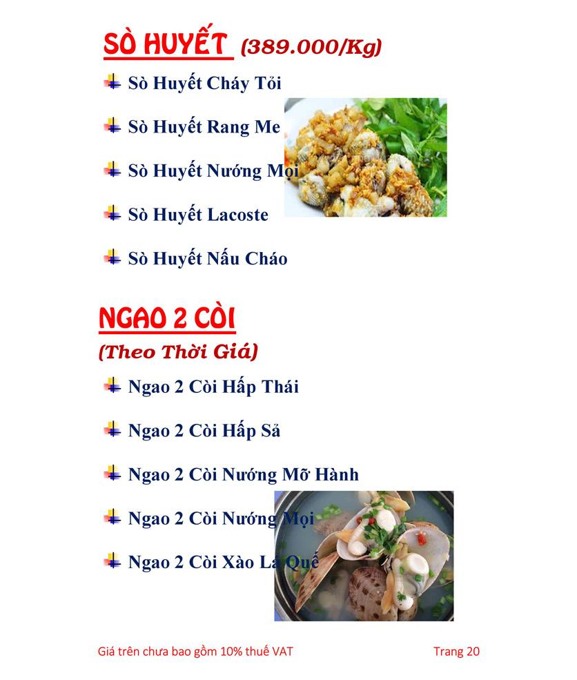 Menu Hải sản Hải Châu 3 - Nguyễn Thị Nhỏ 25