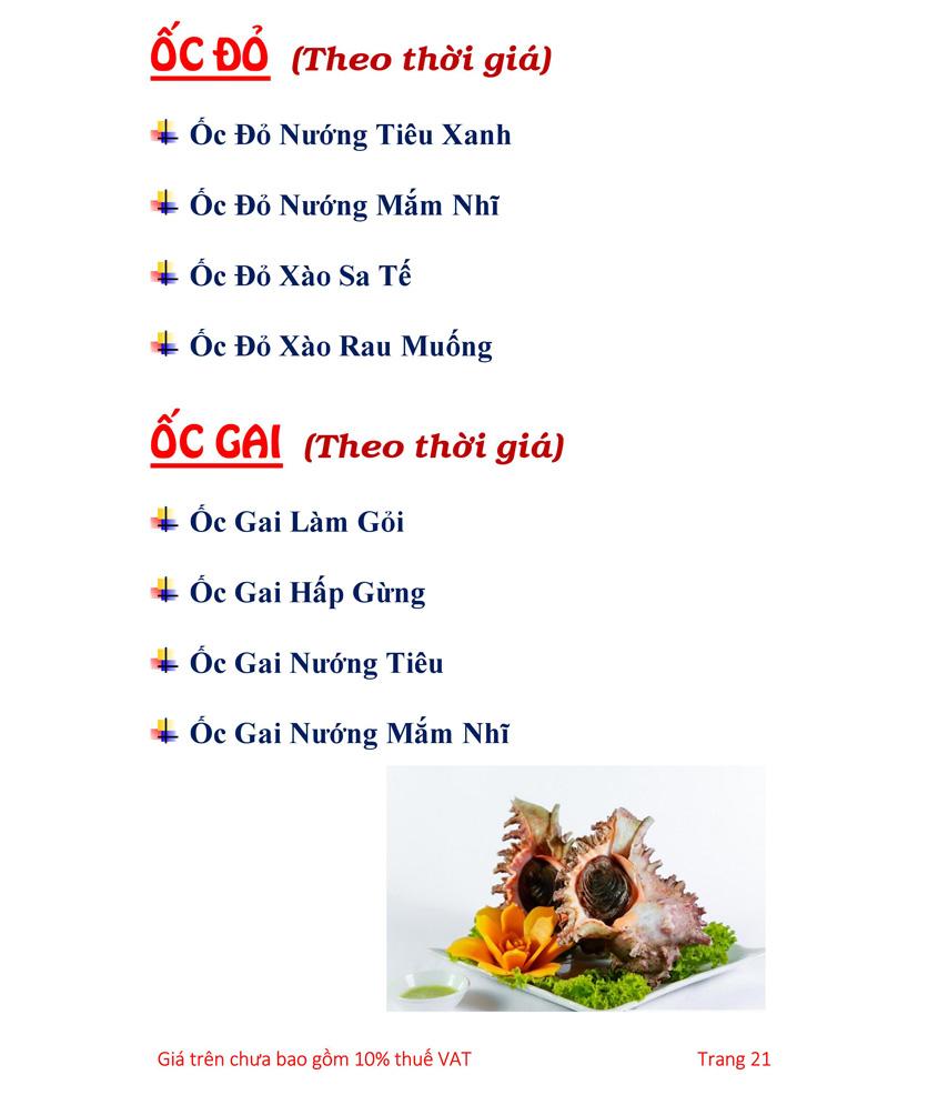 Menu Hải sản Hải Châu 3 - Nguyễn Thị Nhỏ 26