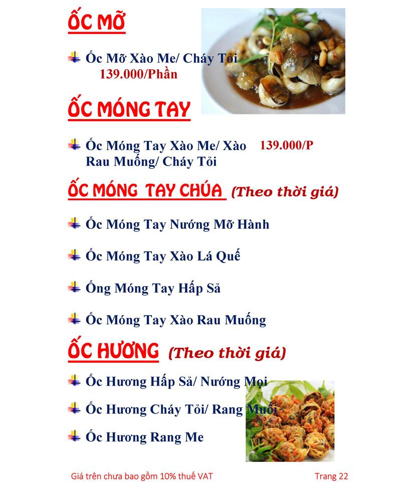 Menu Hải sản Hải Châu 3 - Nguyễn Thị Nhỏ 27