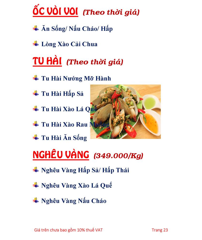 Menu Hải sản Hải Châu 3 - Nguyễn Thị Nhỏ 28