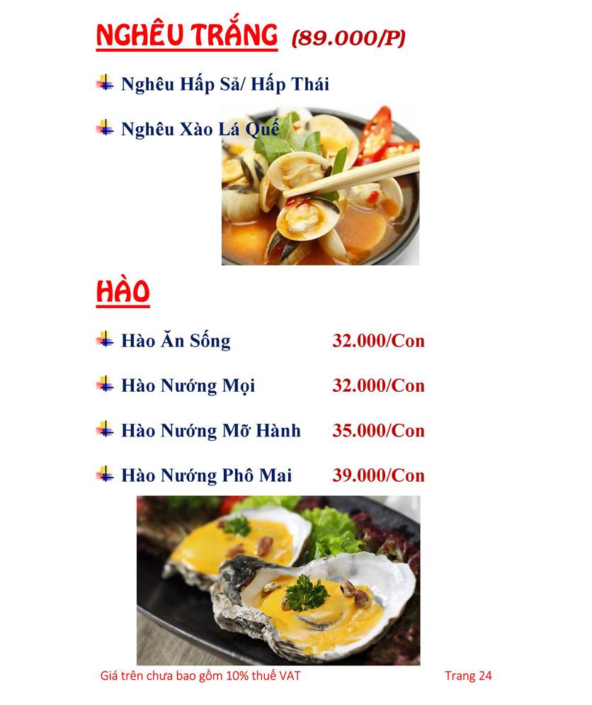 Menu Hải sản Hải Châu 3 - Nguyễn Thị Nhỏ 29