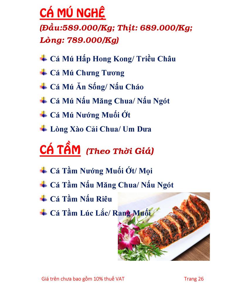 Menu Hải sản Hải Châu 3 - Nguyễn Thị Nhỏ 31