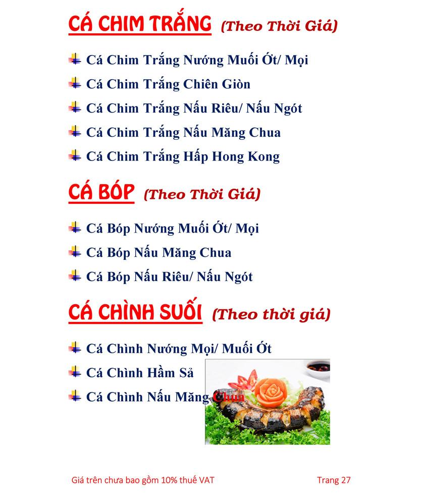 Menu Hải sản Hải Châu 3 - Nguyễn Thị Nhỏ 32