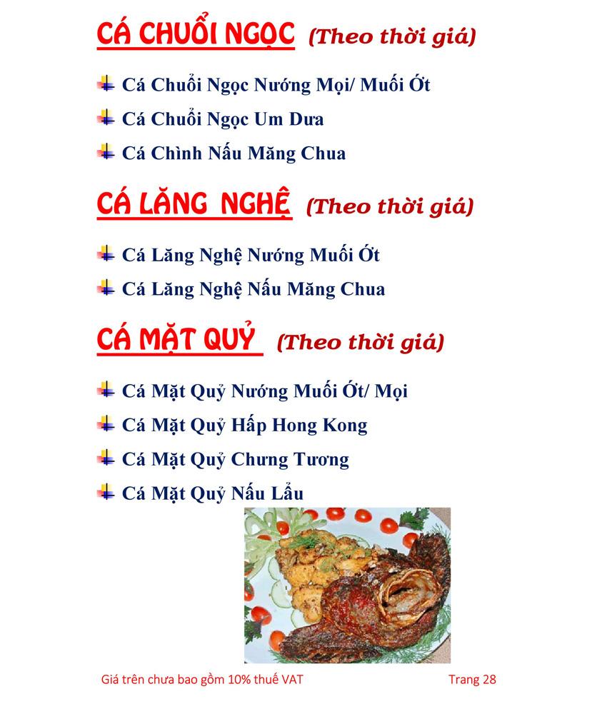 Menu Hải sản Hải Châu 3 - Nguyễn Thị Nhỏ 33