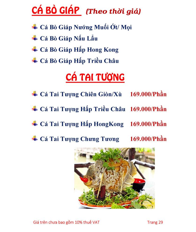 Menu Hải sản Hải Châu 3 - Nguyễn Thị Nhỏ 34