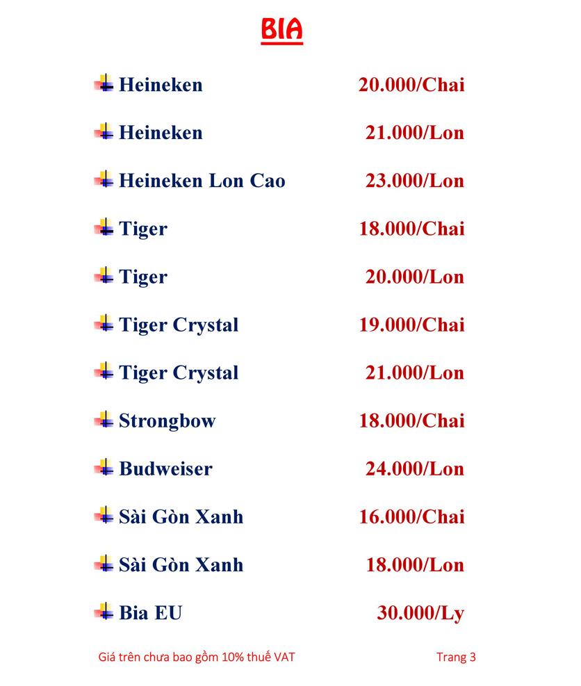 Menu Hải sản Hải Châu 3 - Nguyễn Thị Nhỏ 10
