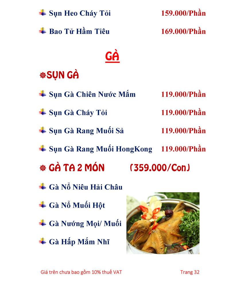 Menu Hải sản Hải Châu 3 - Nguyễn Thị Nhỏ 37