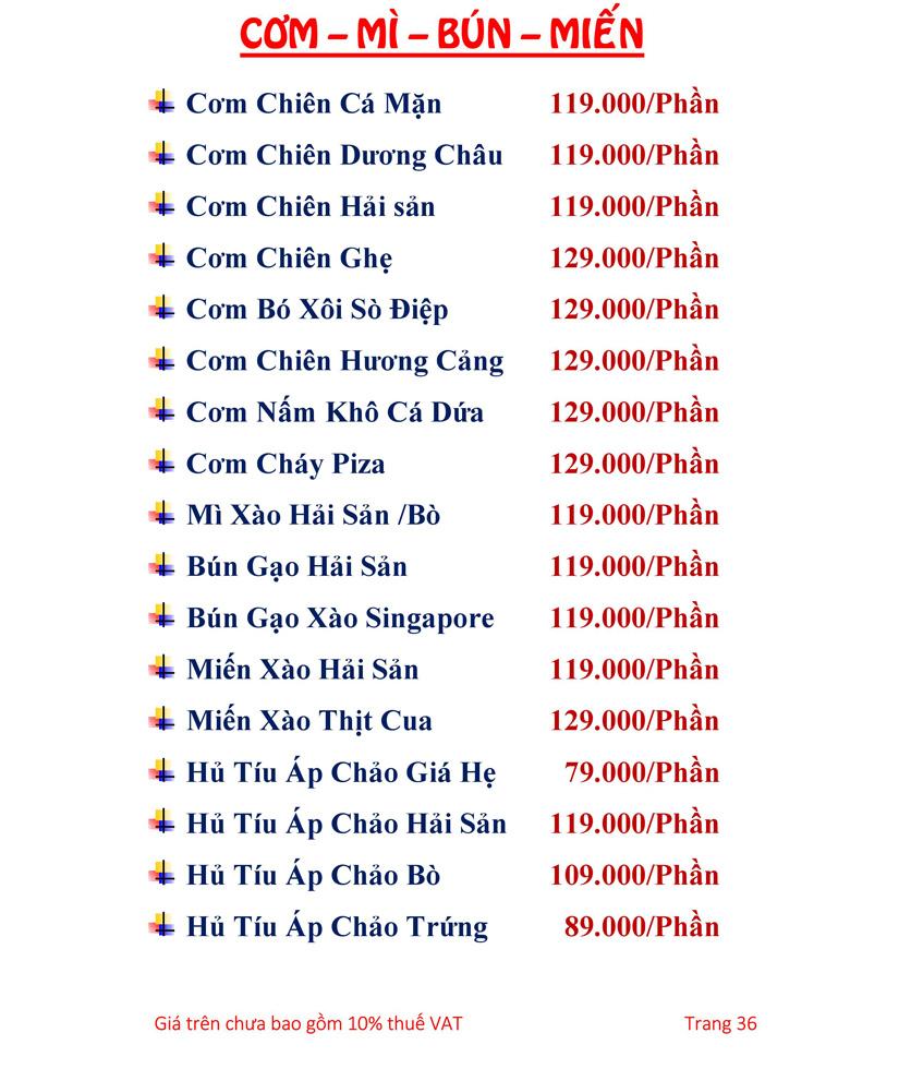 Menu Hải sản Hải Châu 3 - Nguyễn Thị Nhỏ 41