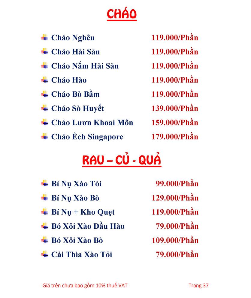 Menu Hải sản Hải Châu 3 - Nguyễn Thị Nhỏ 42