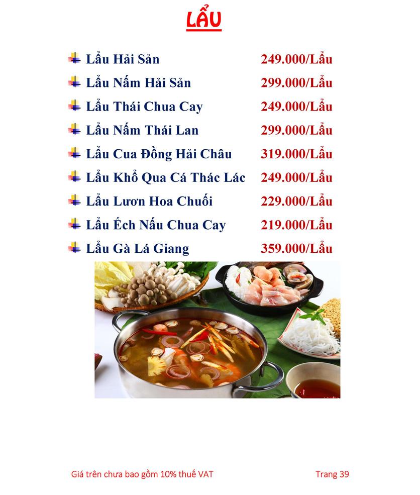Menu Hải sản Hải Châu 3 - Nguyễn Thị Nhỏ 44