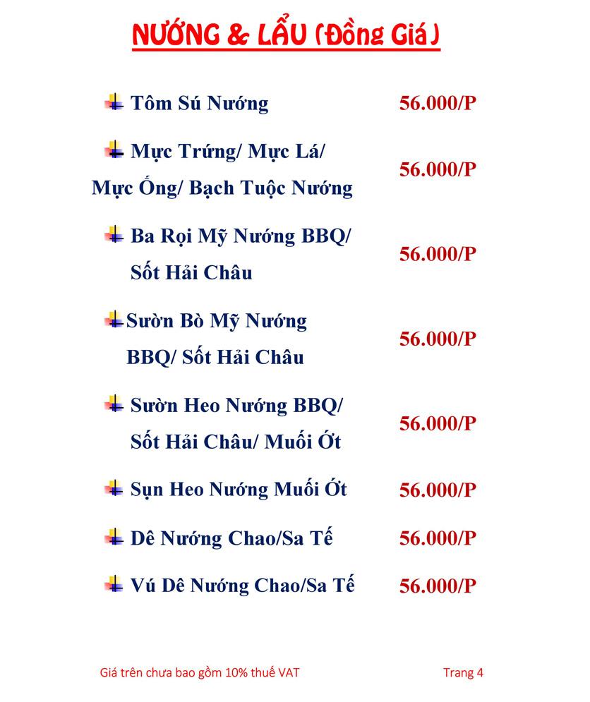 Menu Hải sản Hải Châu 3 - Nguyễn Thị Nhỏ 1
