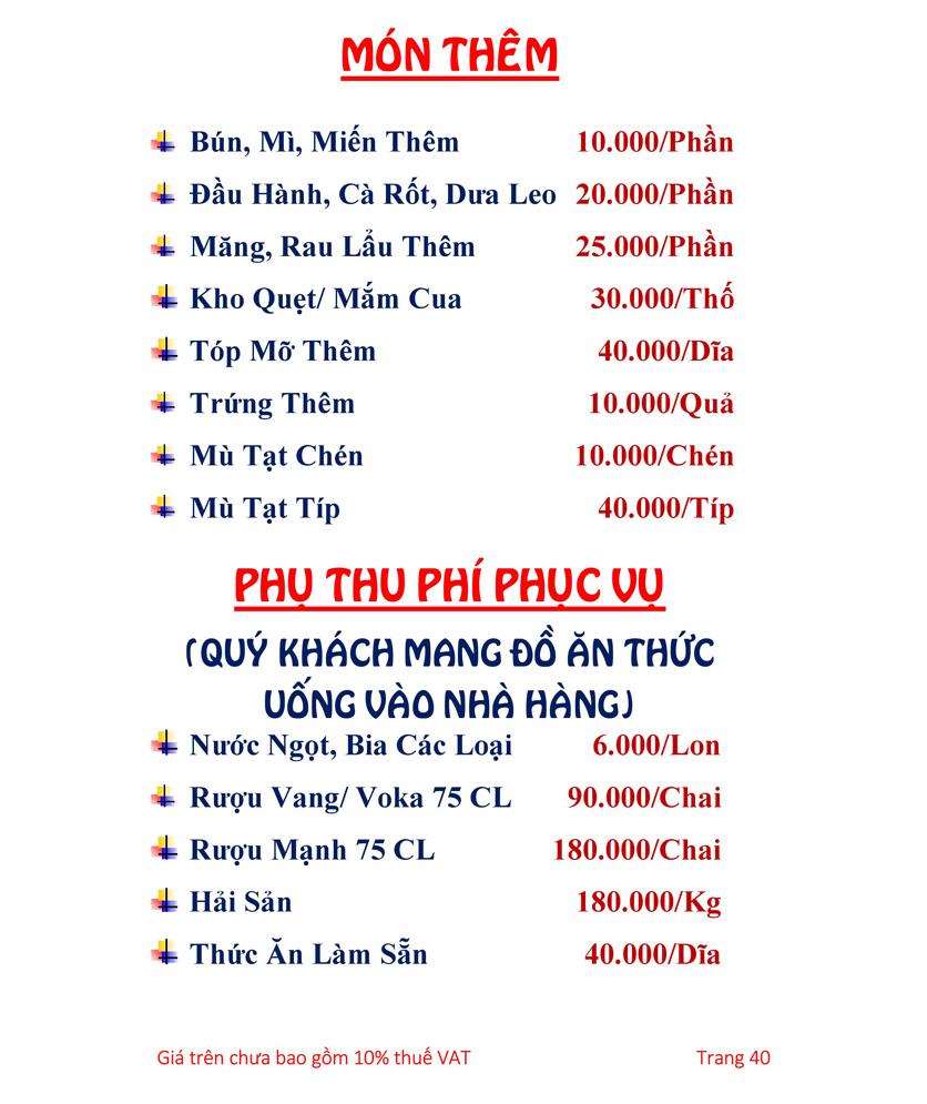 Menu Hải sản Hải Châu 3 - Nguyễn Thị Nhỏ 45