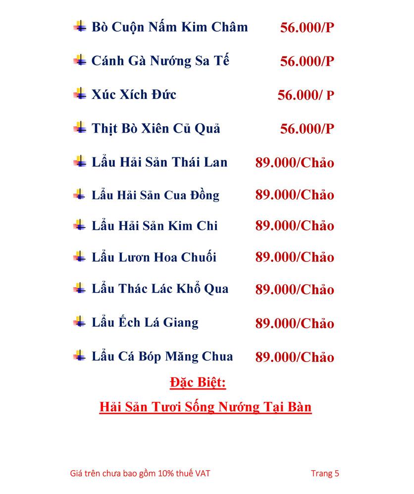 Menu Hải sản Hải Châu 3 - Nguyễn Thị Nhỏ 2