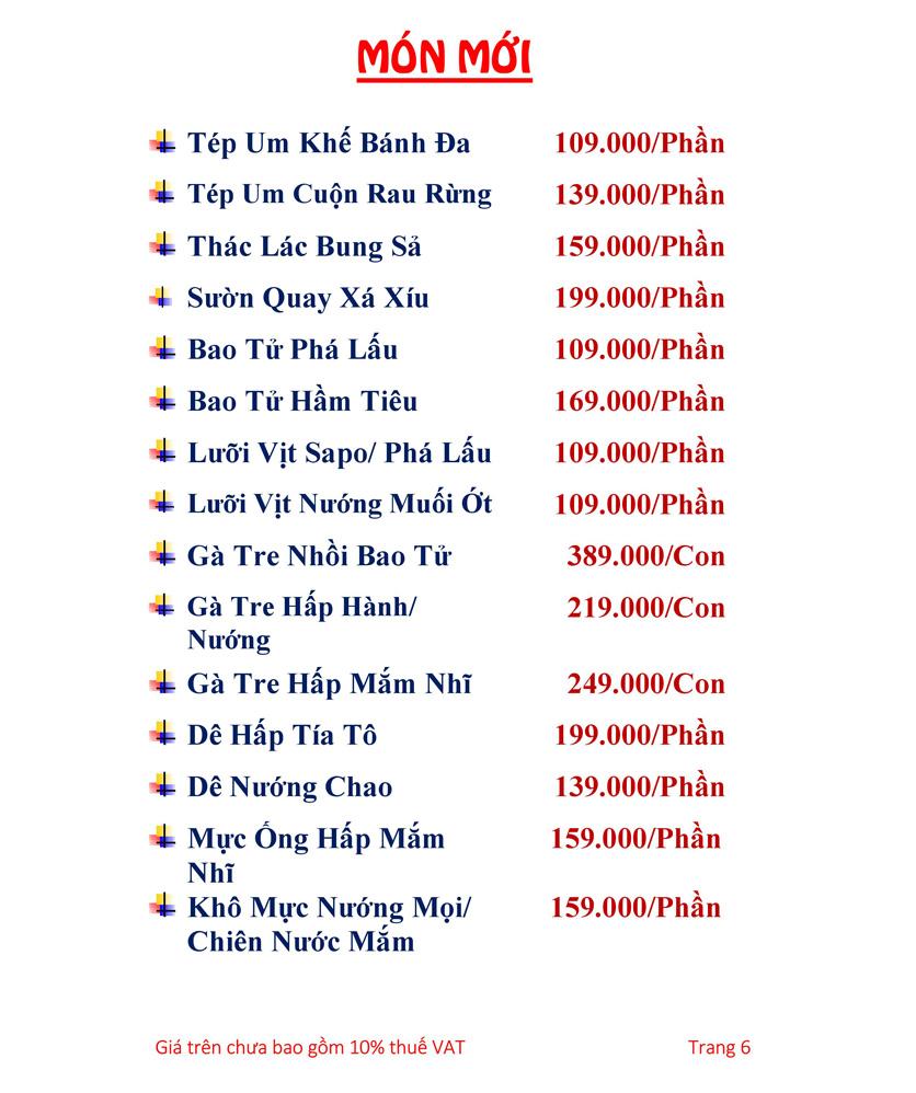 Menu Hải sản Hải Châu 3 - Nguyễn Thị Nhỏ 11