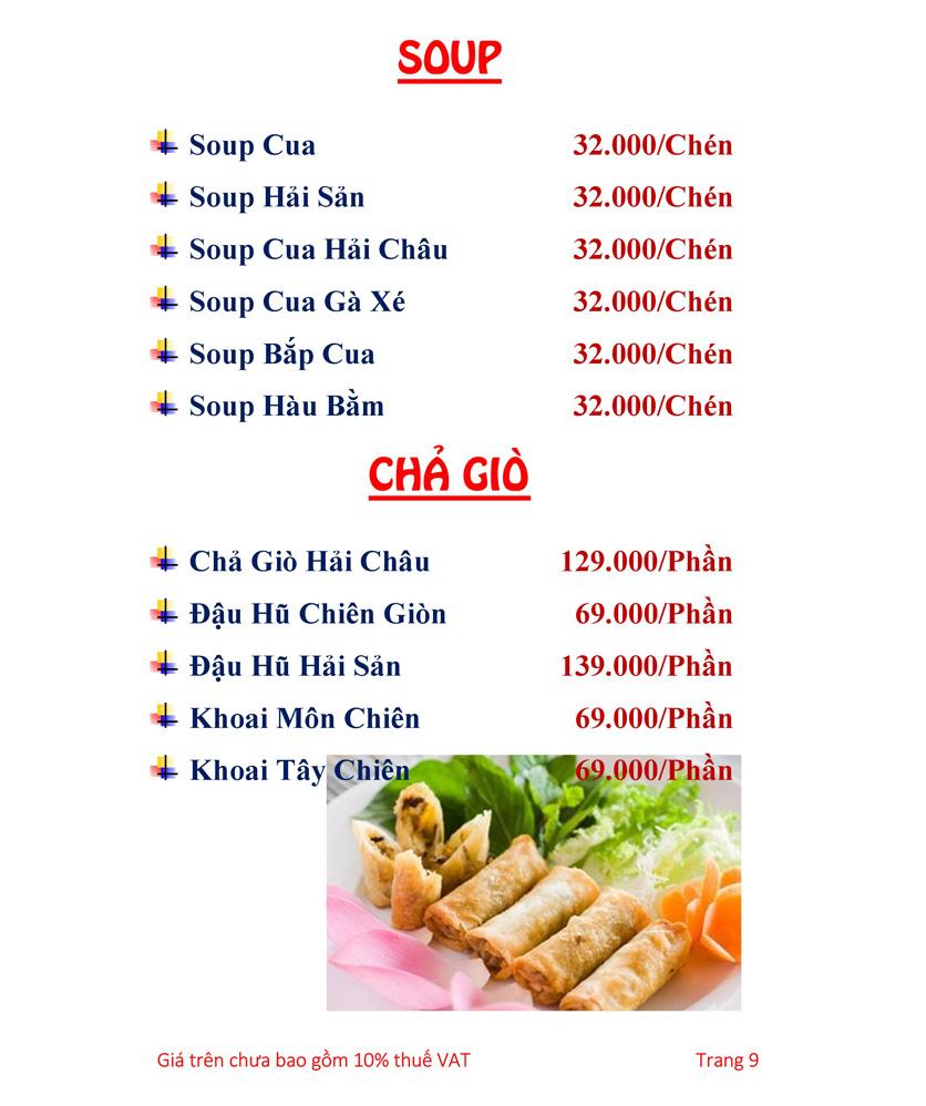 Menu Hải sản Hải Châu 3 - Nguyễn Thị Nhỏ 14