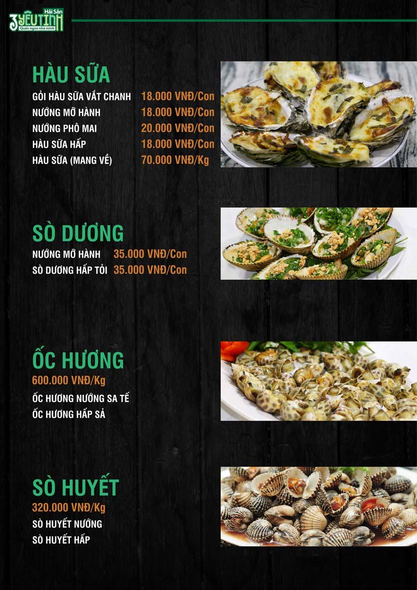Menu Hải Sản 3 Yêu Tinh - Trần Quang Diệu 11