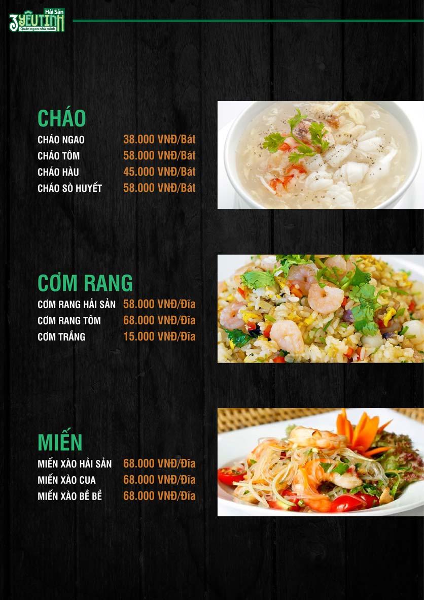 Menu Hải Sản 3 Yêu Tinh - Trần Quang Diệu 12