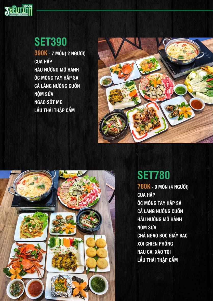 Menu Hải Sản 3 Yêu Tinh - Trần Quang Diệu 14