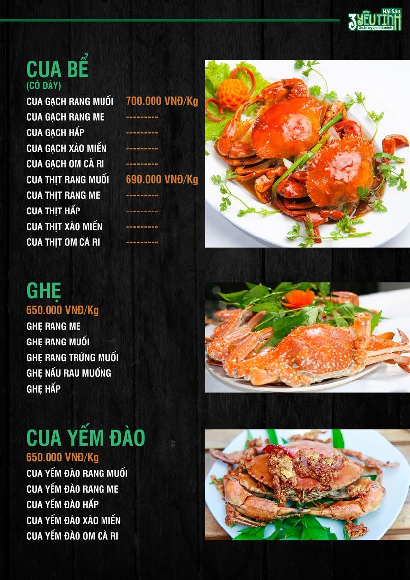 Menu Hải Sản 3 Yêu Tinh - Trần Quang Diệu 4