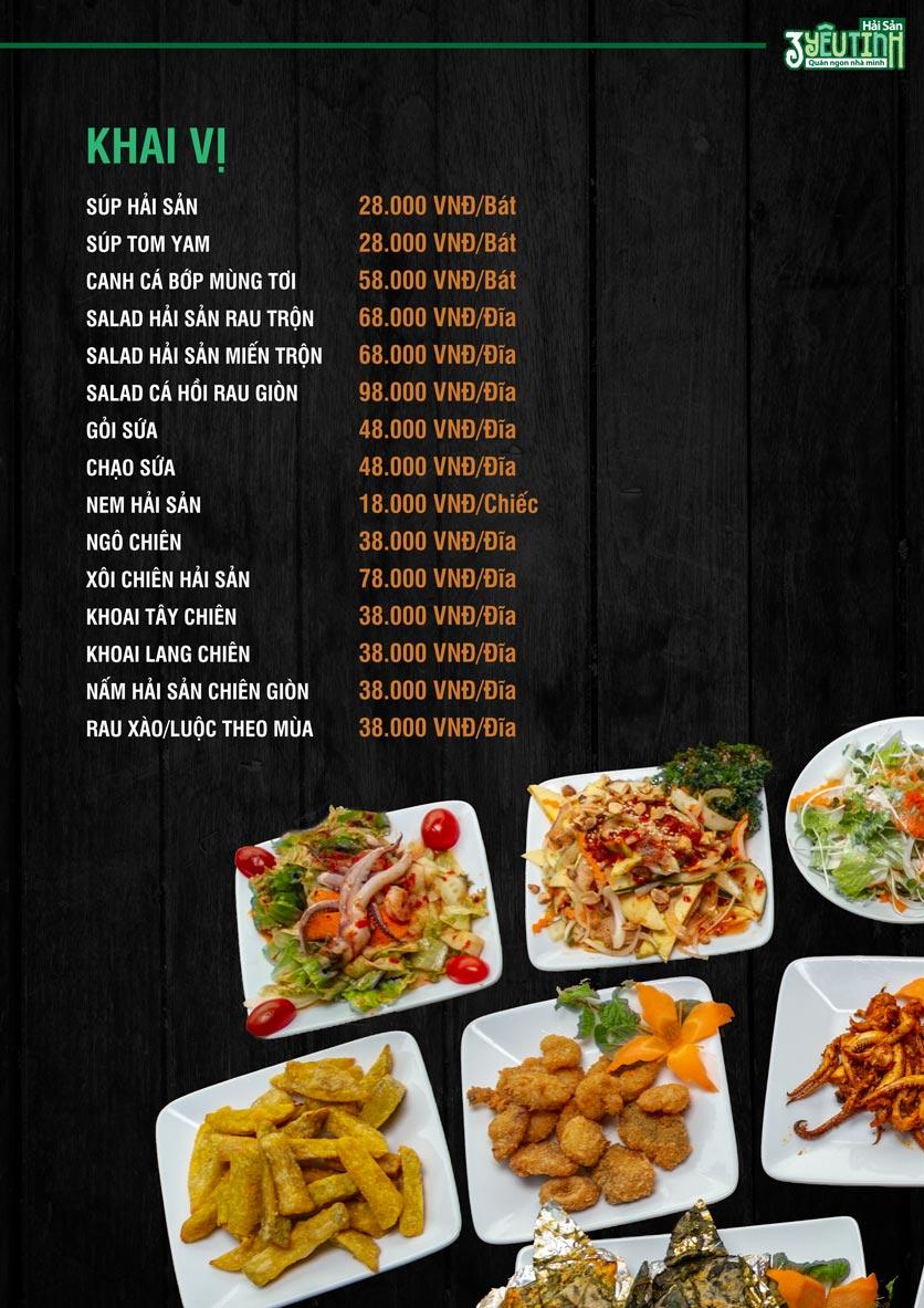 Menu Hải Sản 3 Yêu Tinh - Trần Quang Diệu 5