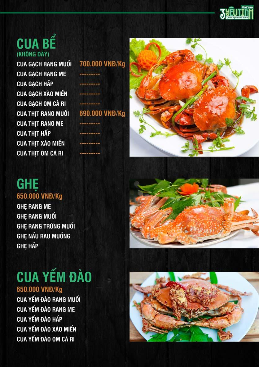 Menu Hải Sản 3 Yêu Tinh - Trần Quang Diệu 9