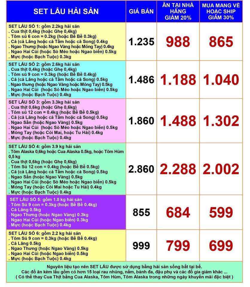 Menu Hải Sản Biển Đông - 794 Đường Láng 3