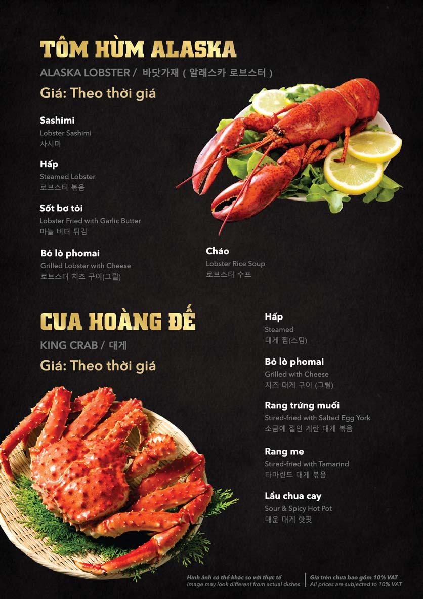 Menu Hải Sản Cua Bay - Đỗ Quang   15