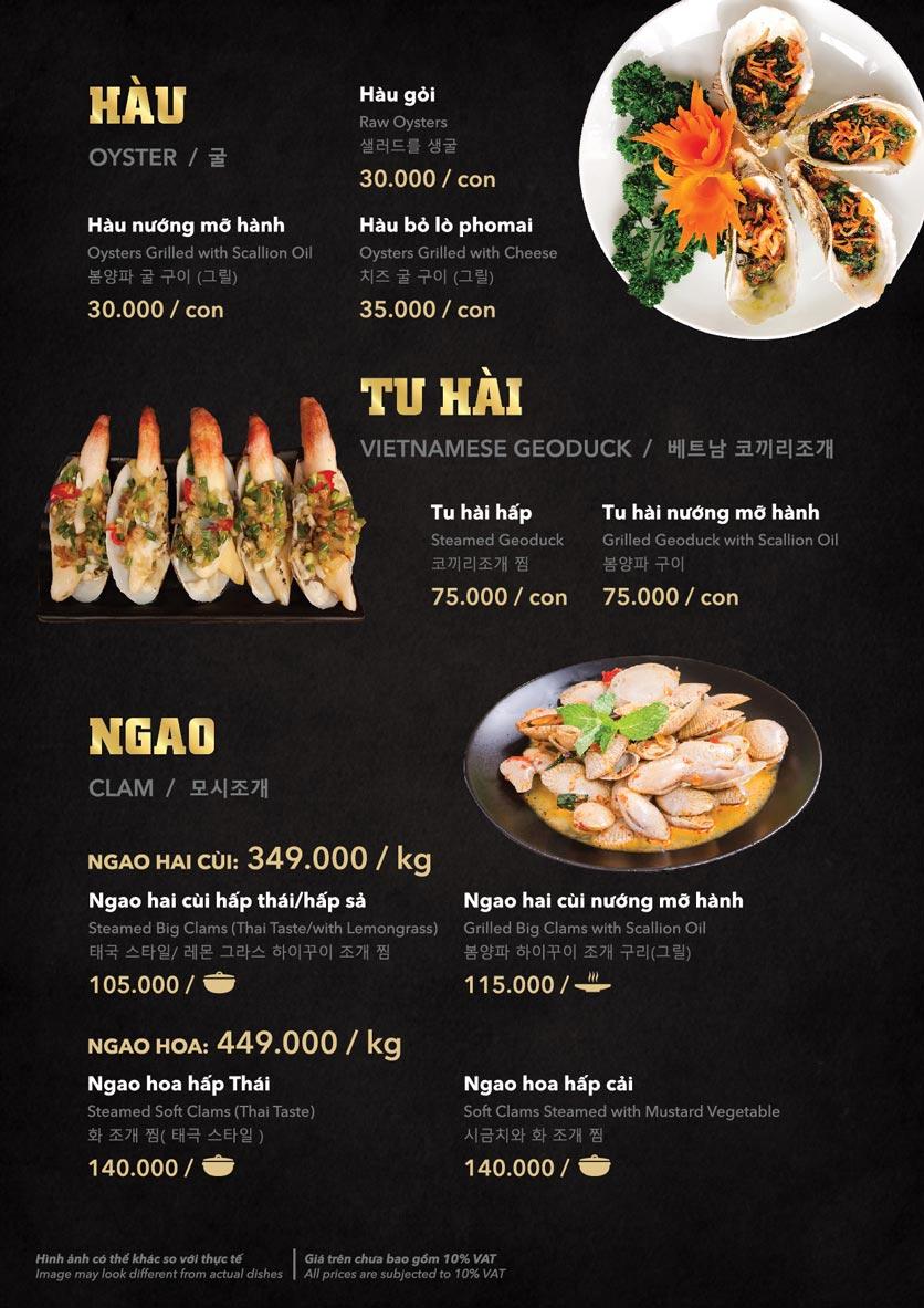 Menu Hải Sản Cua Bay - Đỗ Quang   9