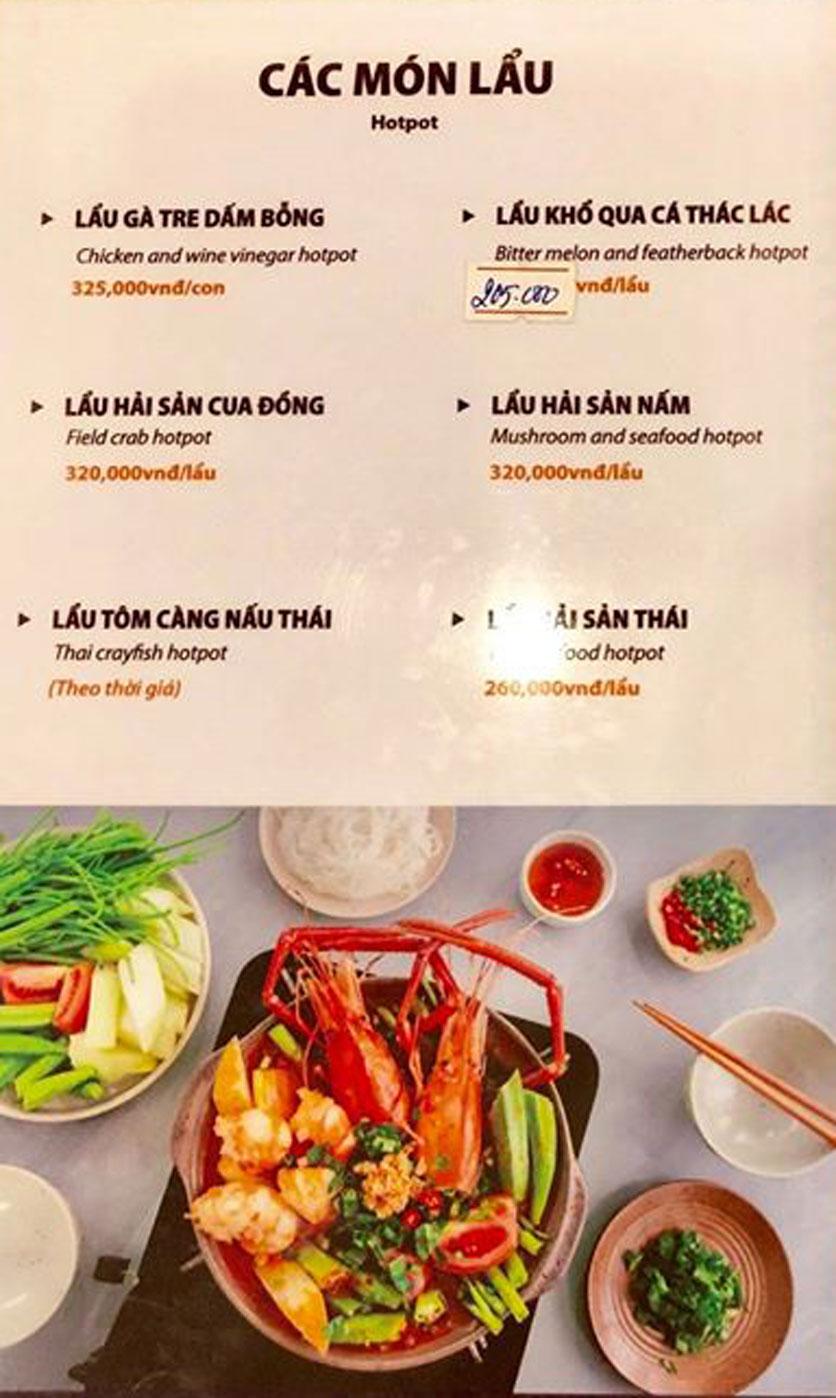 Menu Hải Sản Sao Biển - Nguyễn Giản Thanh 7