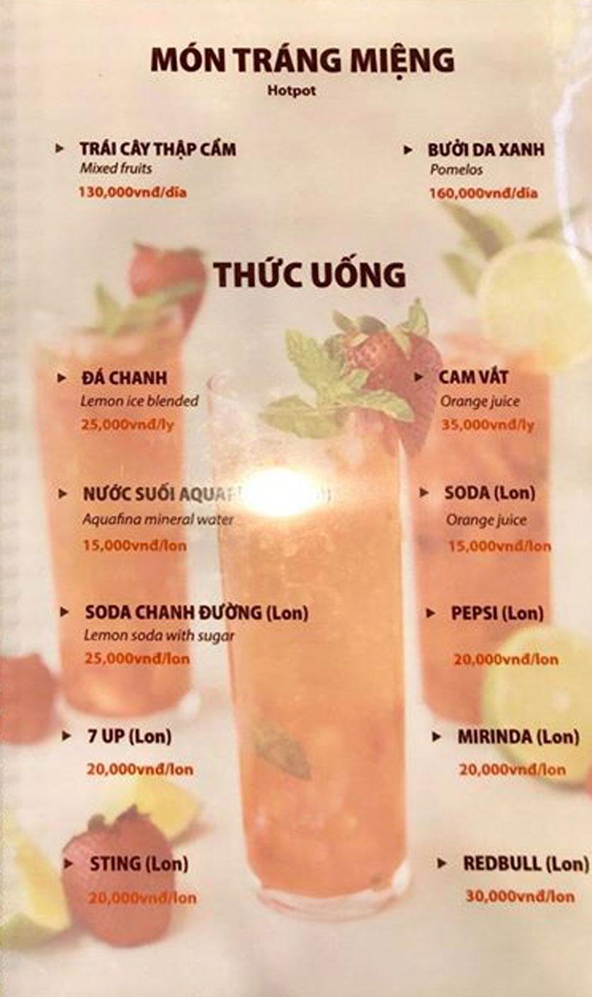 Menu Hải Sản Sao Biển - Nguyễn Giản Thanh 8