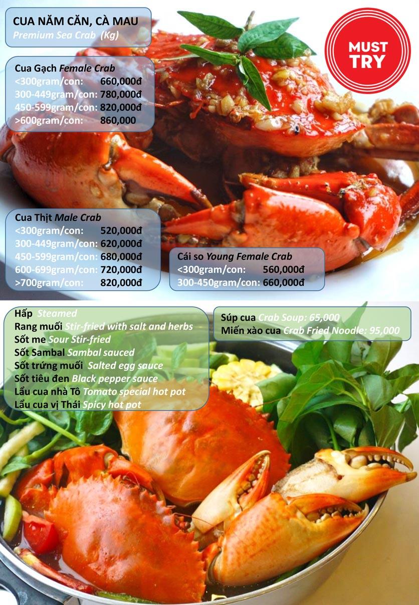 Menu Hải Sản Tomato - Lê Văn Hưu  1