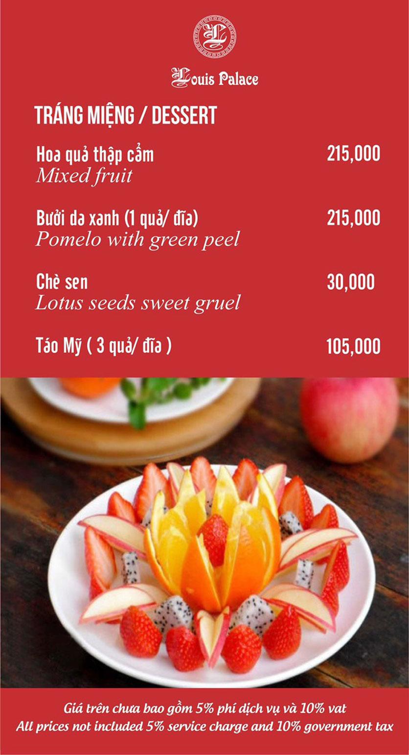 Menu Hầm Rượu Vang Louis - Hoàng Hoa Thám 1