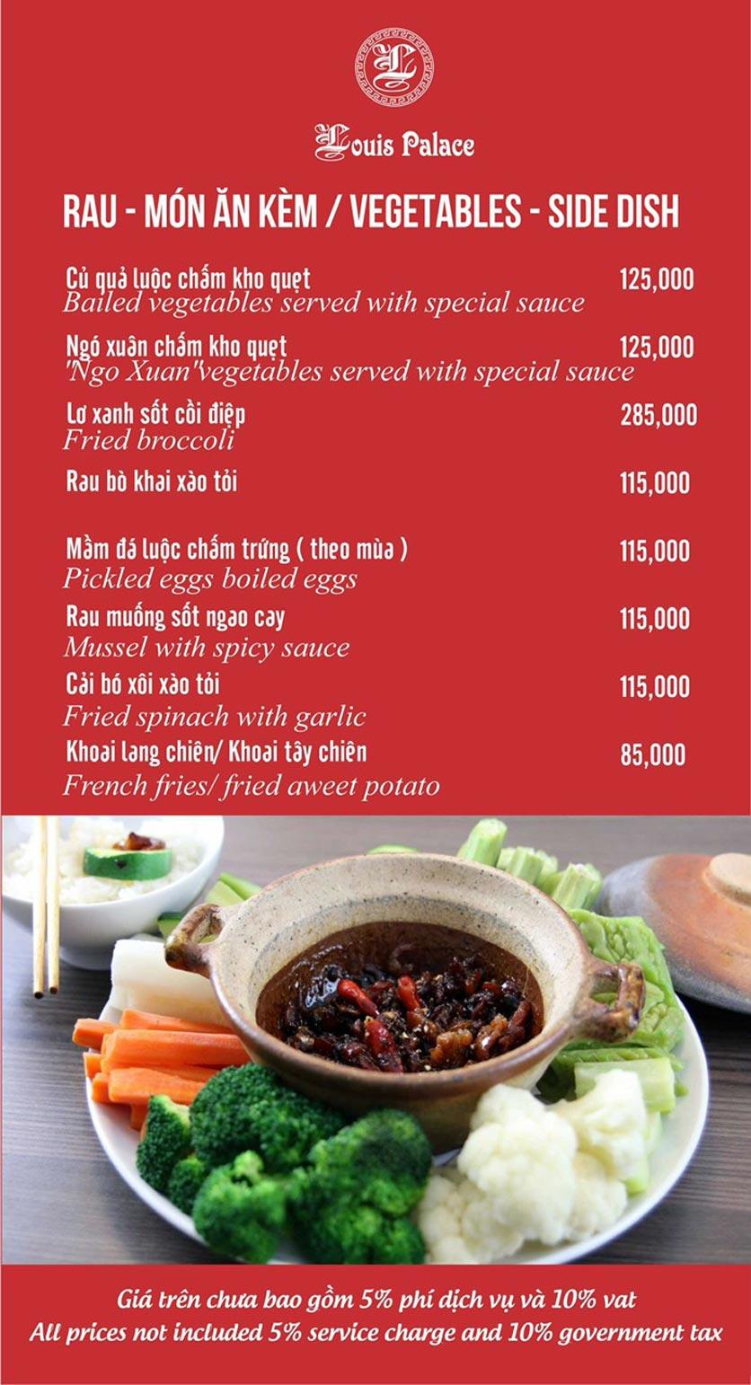 Menu Hầm Rượu Vang Louis - Hoàng Hoa Thám 11
