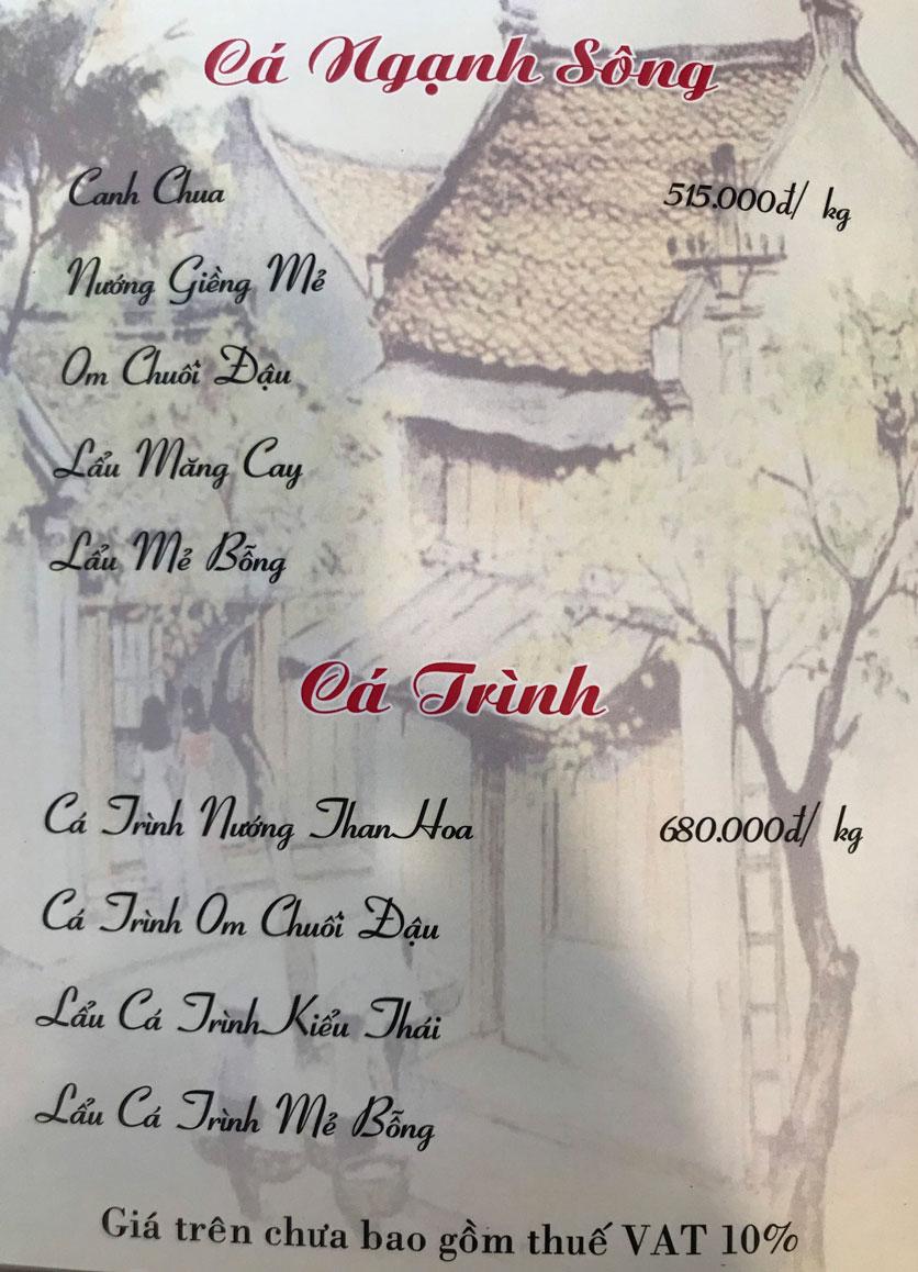 Menu Hà Nội Phố - Hàm Nghi 10