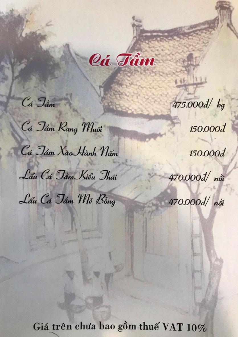 Menu Hà Nội Phố - Hàm Nghi 11