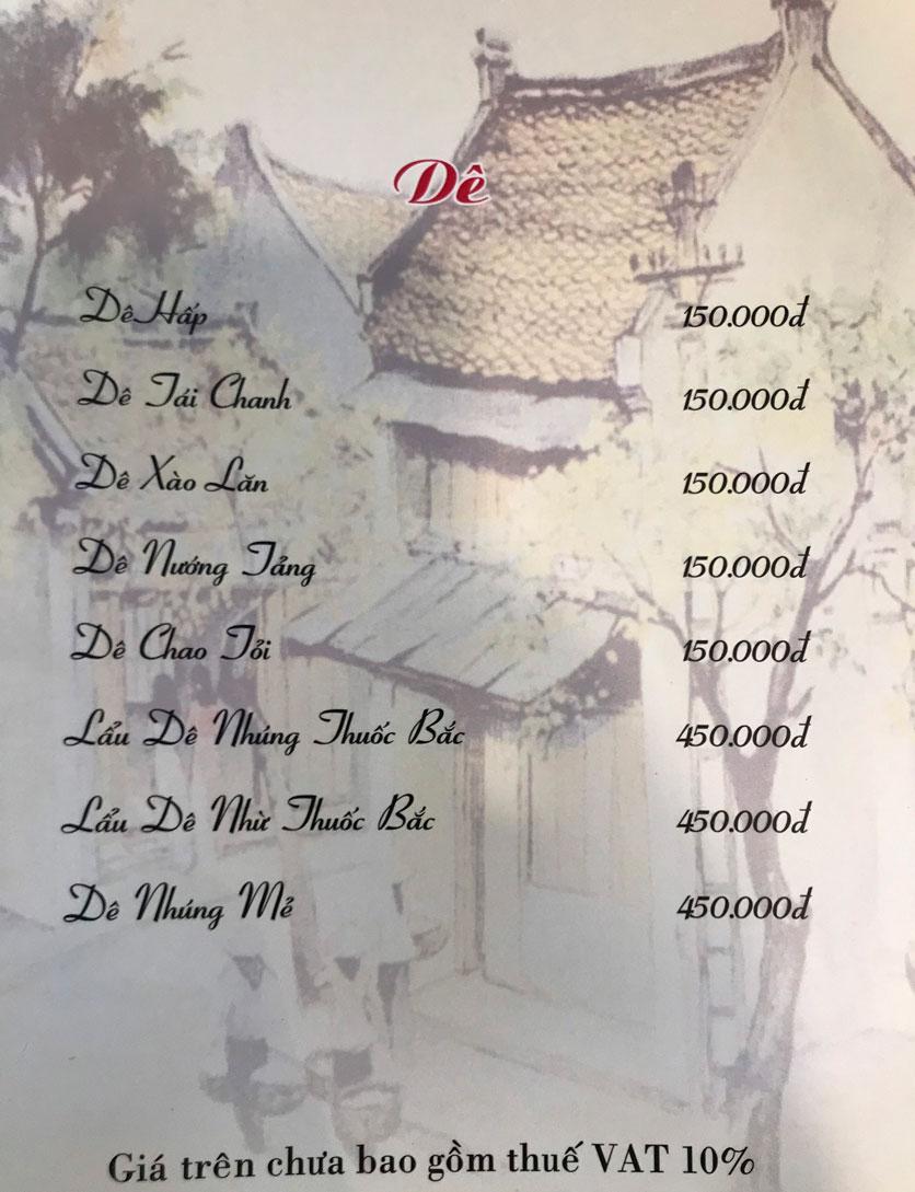 Menu Hà Nội Phố - Hàm Nghi 17
