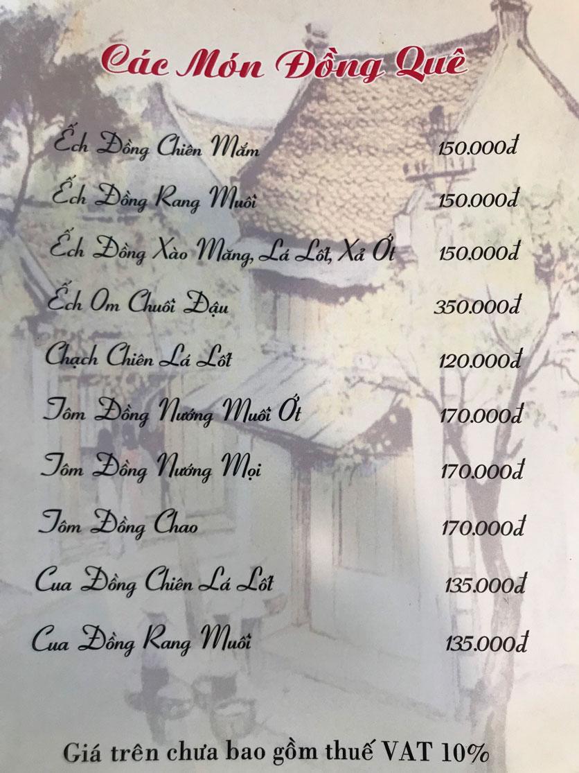 Menu Hà Nội Phố - Hàm Nghi 7