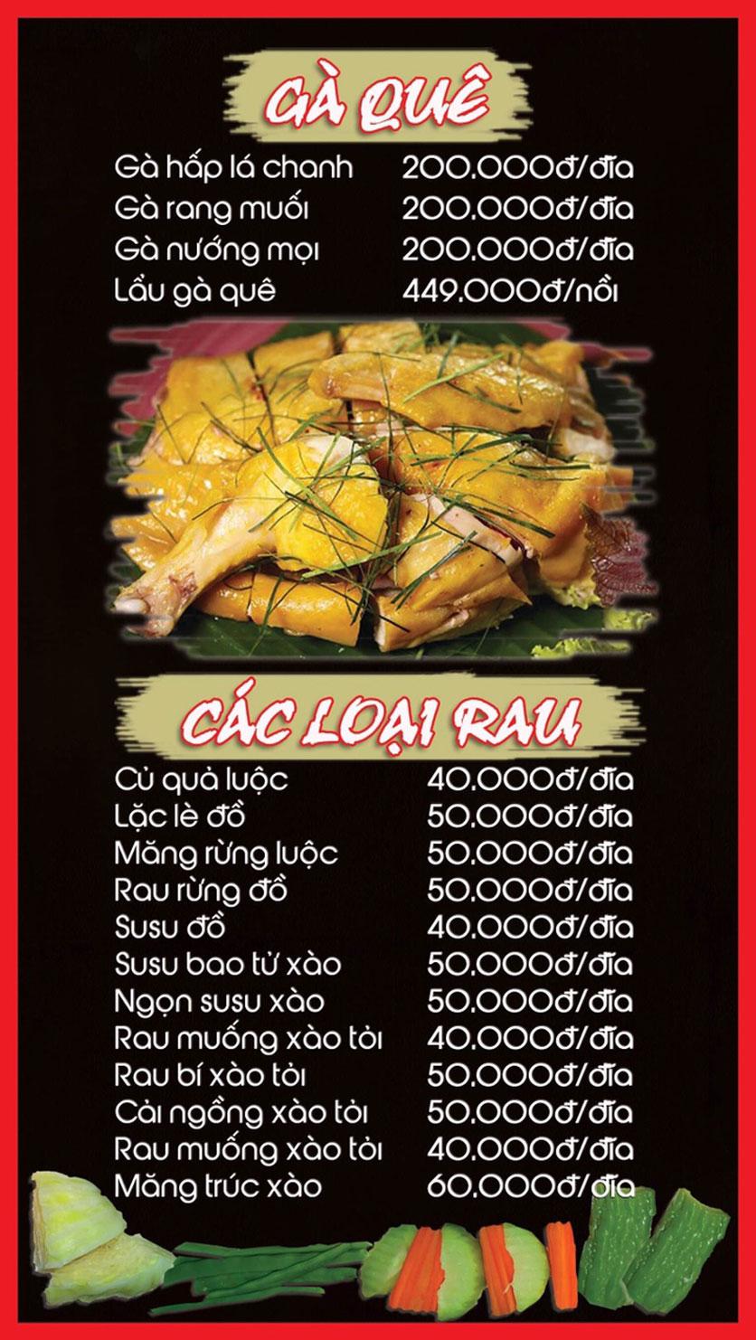 Menu Hoa Ban - Nguyễn Chí Thanh 2