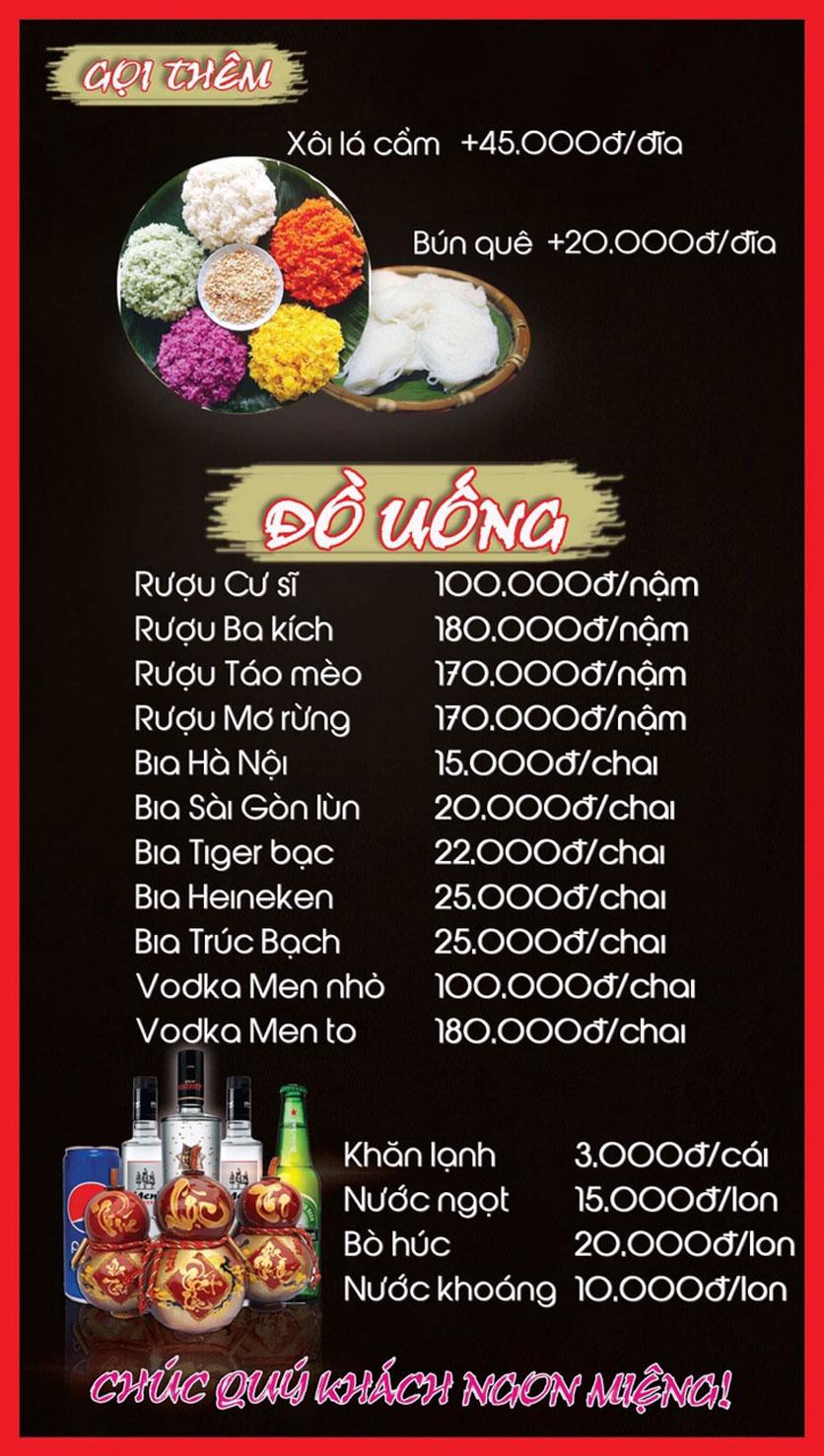 Menu Hoa Ban - Nguyễn Chí Thanh 3